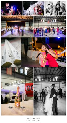 Wedding at World War II Aviation Museum in Camarillo, CA // Photography by… Airport Wedding, Aviation Wedding, Vintage Airplanes, World War Ii, Museum, Chelsea, Reception, Photography, Wedding Ideas