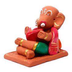 Hand Painted Terracotta Ganesha