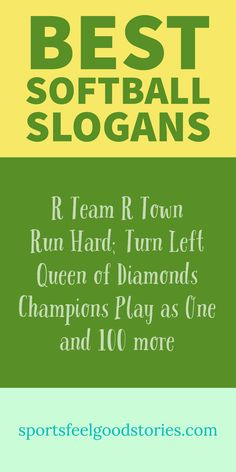 Softball Slogans, Sayings and Quotes.  Great for girls fast pitch, rec leagues and more. Awesome words for captions on Facebook and Instagram. Phrases for scrapbooks and certificates. Softball coaches and team parents: check these out!