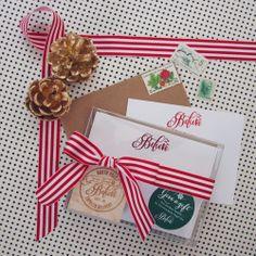 Make your envelopes festive with our beloved Santa Stamp $20