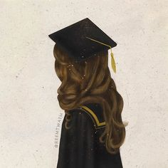 Alhmdullilah I am a graduate today ! Alhmdullilah I passed ! Girly Drawings, Art Drawings, Girl Cartoon, Cartoon Art, Sarra Art, Girly M, Illustration Mode, Girly Pictures, Graduation Pictures