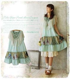 Japanese women lolita Mori girl Lagenlook sleeveless cotton dress #Unbranded #Casual