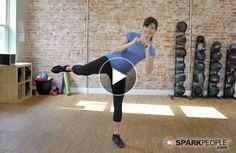 Cardio Kick Workout Video A Cardio Kickboxing Workout that Burns 100 Calories!A Cardio Kickboxing Workout that Burns 100 Calories! Moda Fitness, Fitness Tips, Fitness Motivation, Health Fitness, Health Exercise, Exercise Moves, Kickboxing Workout, Workout Fitness, Fitness Exercises