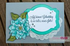 Stampin Up Peaceful Petals Dein Tag Another Great Year Blendabilities Mix Marker
