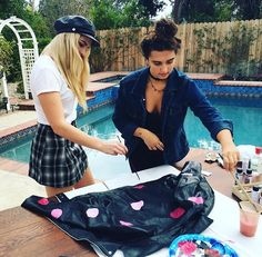 Rydel and vanni in Rydels YouTube video