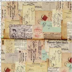 Tecido Estampado para Patchwork - Memórias de Paris (0,50x1,40) 100% Algodão -  Fabricante:  Fabricart