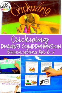 "Do you use ""Crickwing"" as a k-2 read aloud? These reading comprehension lesson plans for kindergarten through second grade help students get a better understanding of the book. They can practice retelling, visualizing, and other elementary reading comprehension strategies!"