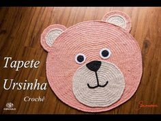 Teddy Bear Rug Crochet – Tutorial – Page 2 Crochet Mat, Crochet Carpet, Crochet Needles, Crochet Home, Crochet For Kids, Bear Rug, Crochet T Shirts, Crochet Videos, Pet Gifts