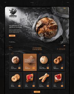 Ui Ux Design, Food Web Design, Web Design Websites, Food Graphic Design, Food Poster Design, Creative Web Design, Menu Design, Presentation Design, Bakery Website