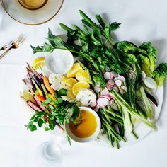 There's no creamy dip to hide behind here: Use the nicest spring vegetables and olive oil you can find.