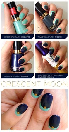 The Fall-Inspired Crescent Moon Mani You Have to Try! Click through to get the deets.