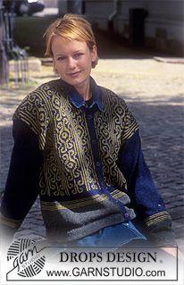 DROPS kofta i Silke-Tweed med nordisk Bågar ~ DROPS Design
