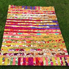 Stoffpaula; sort of like a jelly roll race quilt, nice use of Martha Negley fabrics