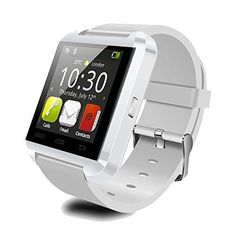 Smartwatch - PEMOTech Luxury Bluetooth Smart Watch WristWatch Phone with Camera Touch Screen for IOS Iphone Android Smartphone Samsung Smartphone - WHITE Wrist Watch Phone, Watch For Iphone, Camera Watch, Iphone 6, Apple Iphone, Ios Apple, Iphone Deal, Samsung Galaxy S5, Samsung S2