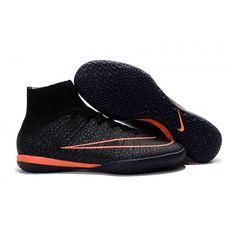 huge discount bb421 0cc4f 2016 Nike Mercurial X Proximo Street IC Botas De Futbol Indoor Negro Naranja