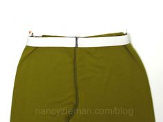 Nancy Zieman shows a great tutorial for creating an elastic waistband. So simple!