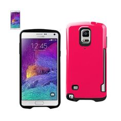 Reiko Samsung Galaxy Note 4 Candy Shield Case With Card Holder In Hot Pink //Price: $20.99 & FREE Shipping //     #mobileaccessories #phonecases