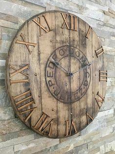 Large clock - barrel clock - rustic decor- sherry barrel - Scotch whisky - whisky clock - whisky gift - 5th anniversary - farmhouse decor