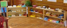 Lovely shelf set-up for Spirit Play classroom