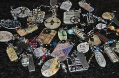 Tim Holtz Charms - video and lots of ideas.