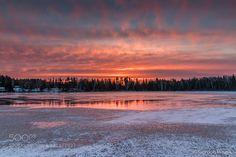 Sunrise on Ice by gordonpusnik. @go4fotos