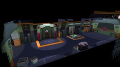 Low Poly Sci Fi Environment - Polycount Forum