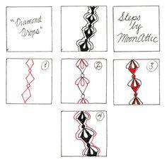 Diamond Drops - Tangle Pattern