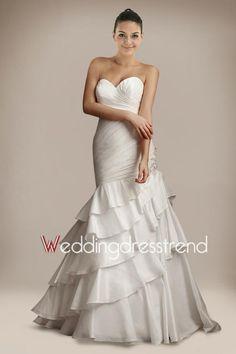 Cheap Brilliant Sweetheart Mermaid Taffeta Wedding Gown - Cheap Wedding Dresses Wholesale and Retail Online Store