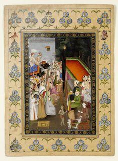 The catafalque of Emperor Bahadur Shah I Bahadur Shah I, Mughal Empire, Indian Artist, Emperor, 19th Century, Taj Mahal, 18th, Miniatures, Textiles