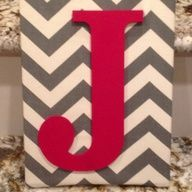 Chevron fabric covered fabric. But I would do blue letter. Even for living room?
