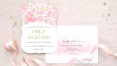 Watercolor Wedding Cards and Invitations