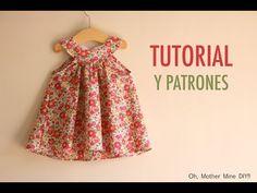 Costura: Vestido cuello halter para niñas (patrones gratis talla ) - YouTube