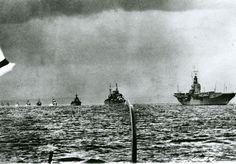 HMAS Sydney leads Australian warships into Port Melbourne.