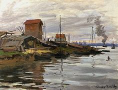 La Seine au Petit-Gennevilliers (C Monet - W 228),1872.