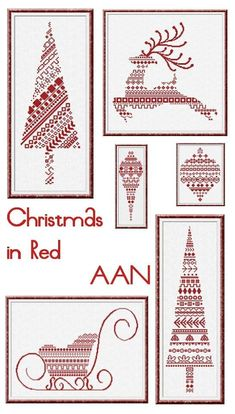 Christmas In Red cross stitch chart Alessandra Adelaide Needlework $21.60