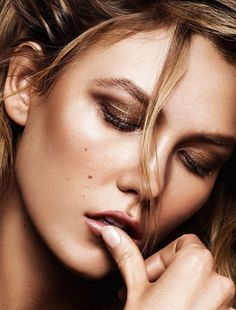 Photographer: Alique / Model: Karlie Kloss / Makeup: Hung Vanngo ( editorial in Glamour France, june 2015 issue)