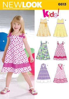Childs Dresses Sewing Pattern 6613 New Look