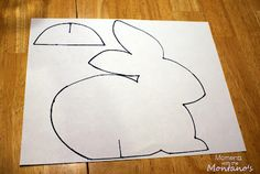 DIY Paper Easter Bunnies Pattern Template Tutorial.