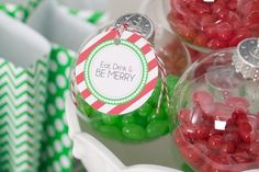 Love this idea of using ornaments for party favors!