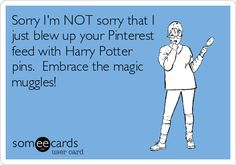 Sorry I'm NOT sorry that I just blew up your Pinterest feed with Harry Potter pins. Embrace the magic muggles!