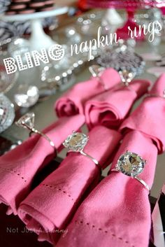 Real Party/Tuesday Tip - Bling Baby Shower Table   Oriental Trading Company Review