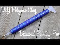 4e84a637d9 DIY Diamond Painting Pen Tutorial with Polymer Clay Marbled Technique