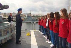 NRP 2 de 2_2013 - nos dias 29, 30 de novembro e 1 de dezembro, alunas do ensino secundário do Instituto de Odivelas – Infante D Afonso viajaram a bordo do Navio da República Portuguesa (NRP) D. Francisco de Almeida