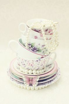 Nice centerpiece for engagement tea party