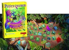 LAS PLUMAS MAGICAS. Un hechizante juego de soplar para 2 - 5 jugadores, con edades entre los 4 y 99 años.Autora: Stefanie SchützIlustrado