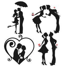 Resultado de imagen para silhouettes of couples in love