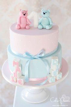 geburtstagstorte_twins_zwillinge1 Torta Baby Shower, Twin Baby Shower Cake, Baby Shower Cake Designs, Baby Shower Cakes Neutral, Baby Girl Shower Themes, Birthday Cake Roses, Twin Birthday Cakes, Gateau Baby Shower Garcon, Christening Cake Girls