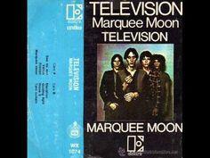 """Television - Marquee Moon (1977) - Full Album / El primer LP de la banda, lanzado en 1977, fue Marquee Moon, el cual es usualmente considerado como su álbum más importante, y según el crítico Stephen Thomas Erlewine es un álbum """"revolucionario"""" debido a sus """"largas y entretejidas secciones instrumentales"""".16 Este álbum introdujo un sonido basado en el entrelazamiento de las guitarras de Verlaine y Lloyd, con ciertas características del punk y el art rock y con influencias de jazz."""