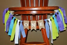 MONSTERS INC First Birthday High Chair Highchair by ScrapBugs