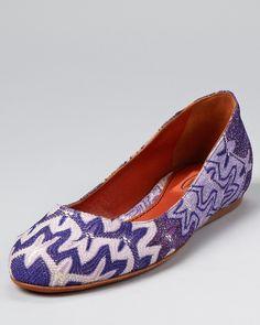 Missoni Flats - Purple Multi Fabric Ballet | Bloomingdale's
